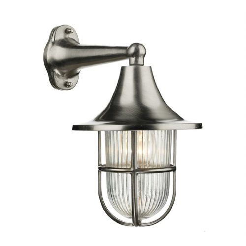 Wadebridge 1 Light Down Wall Light Nickel IP64 WAD1538 (Hand made, 7-10 day Delivery)